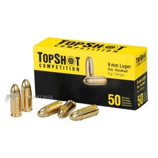 9mm Luger TOPSHOT FMJ 124grs - 50Stk