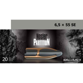 6,5x55 S&B Nosler Partition 140grs. - 20 Stk