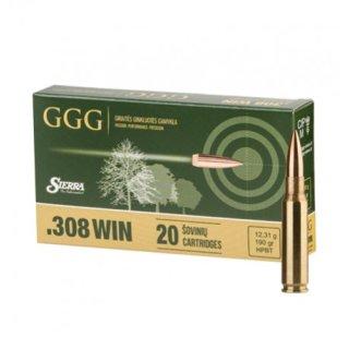 .308 Win GGG Sierra HPBT 190grs - 20Stk