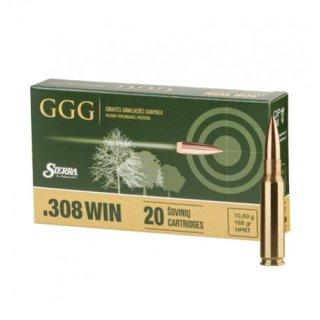 .308 Win GGG Sierra HPBT 168grs - 20 Stk.