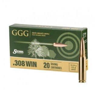 .308 Win GGG Sierra HPBT 155grs - 20 Stk