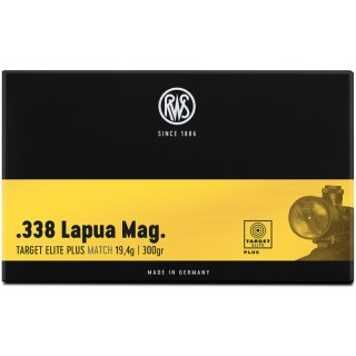 .338 Lapua Mag. Target Elite Plus 299grs.