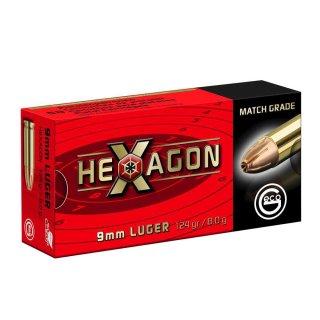 9mm Luger Geco Hexagon SX  124grs. 50Stk