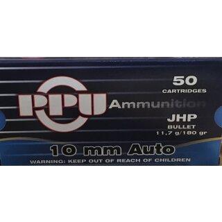 10 mm Auto PPU Hollow Point 190grs. 50Stk
