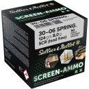 .30-06 Spr. S&B FMJ Screen-Ammo .Zink 124 grs - 50Stk