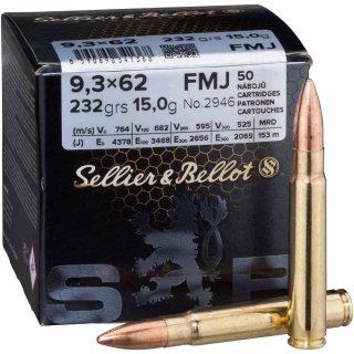 9,3x62 S&B FMJ 232grs. 50Stk