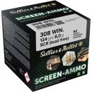 .308 Win S&B FMJ Screen-Ammo .Zink 124 grs. 50Stk