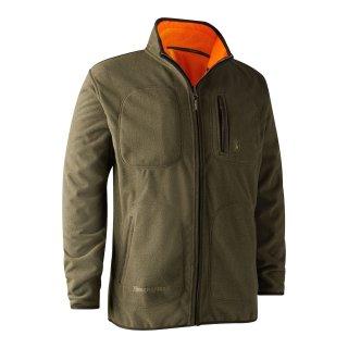 Deerhunter Gamekeeper Bonded Fleece Wende-Jacke (orange/oliv)