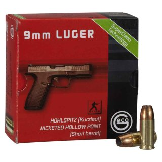 9mm Luger Geco Hohlspitz Red Zone 124grs - 20Stk