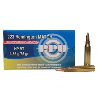 .223 Rem. PPU HP-BT 75grs. Match Line 20Stk