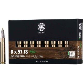 8x57 IS RWS Evo Green 139grs. 20Stk