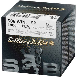 .308 Win. S&B SP 180 grs - 50Stk