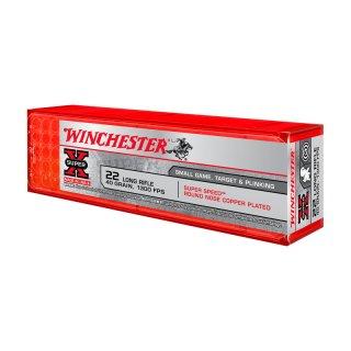 .22 lfb. Winchester Super-X Copper Plated 40grs - 100Stk