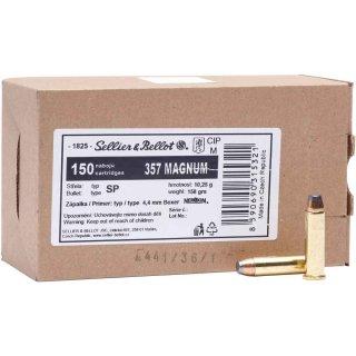.357 Mag. S&B SP 158grs - 150 Stk