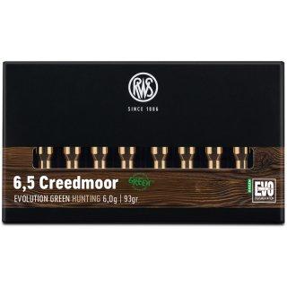 6,5 Creedmoor RWS Evo Green 93grs - 20Stk