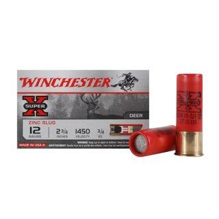12/70 Winchester Slug Super-X Rifled Lead free - 5 Stk
