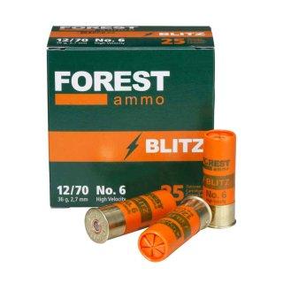 12/70 Forest Ammo Blitz HV 2,7mm 36g - 25 Stk