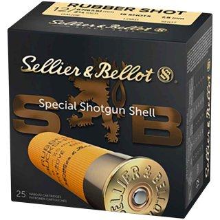 12/67,5 S&B Rubber-Schrot 7,5 mm 25Stk