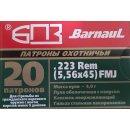 .223 Rem. Barnaul FMJ 62grs. 20Stk
