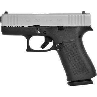 Glock 43X ADJ silver slide 9mm