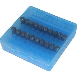 Patronenbox für Kurzwaffen MTM blau