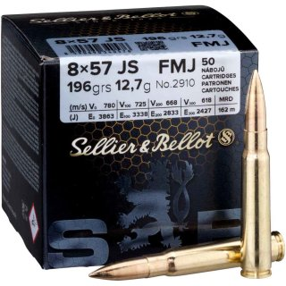 8x57 IS S&B FMJ 196 grs. - 50Stk