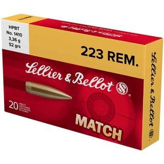.223 Rem. S&B Siera Matchking 52grs. - 20Stk