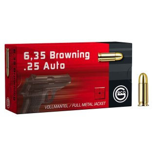 6,35 Browning Geco FMJ 49 grs. - 50Stk