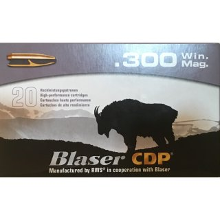 .300 Win. Mag. Blaser  CDP 165grs. - 20 Stk