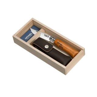 Opinel Taschenmesser No 08 Carbonstahl mit Etui
