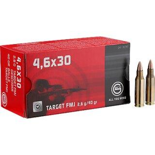 4,6x30mm Geco Target FMJ 40grs - 50Stk