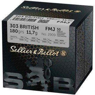 .303 British. S&B FMJ 180grs. - 50Stk