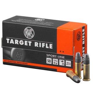 .22 lfb RWS Target Pistol 40grs - 50Stk