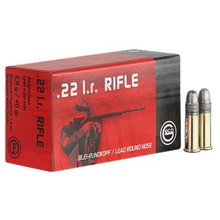 .22 lfB. Geco Rifle Blei Rundkopf 40grs - 50Stk
