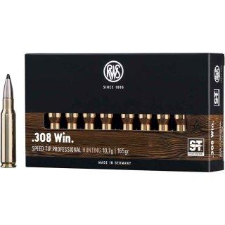 .308 Win RWS Speed Tip Short Rifle 165grs. -  20Stk
