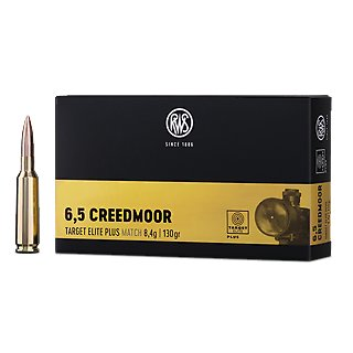 6,5 Creedmoor RWS Target Elite Plus 130grs. 20Stk