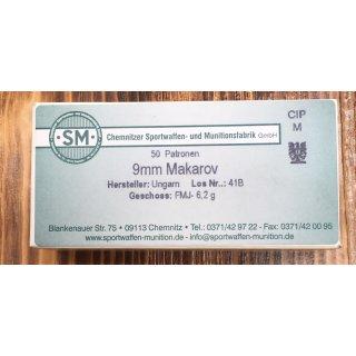 9mm Makarov SM 96grs - 50 Stück