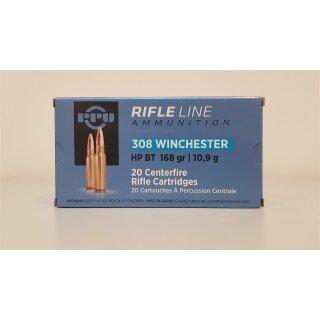 .308 Win. PPU Rifle Line HP BT 168grs 20 Stk