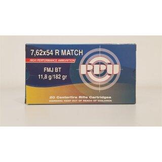 7,62x54R PPU Match FMJ BT 182grs. 20St.