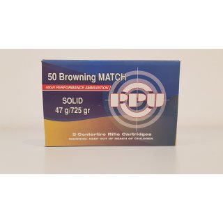 .50 BMG PRVI/PPU Solid Match 725 gr - 5Stk