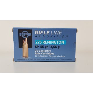 .223 Rem. PPU SP 55grs. Rifle Line 20Stk