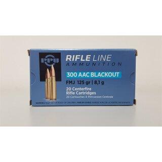 .300 AAC Blackout PPU FMJ 125grs. 20Stk