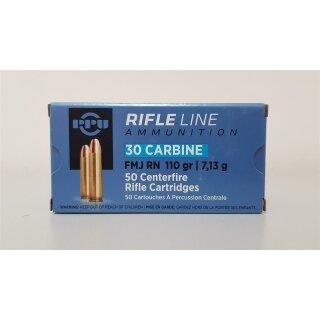 .30 Carbine PPU FMJ RN 110 grs. - 50Stk