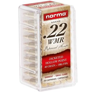 .22 Win. Mag. Norma JHP 40grs. - 50 Stk