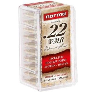 .22 WMR Norma JHP 40grs. - 50 Stk