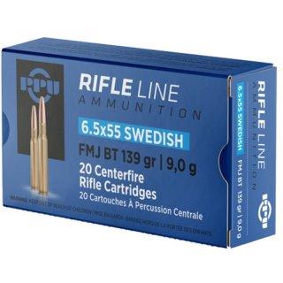 6,5x55 PPU Rifle Line Swedish SP BT 139 gr - 20 Stk