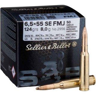 6,5x55 S&B FMJ 124 grs - 50Stk
