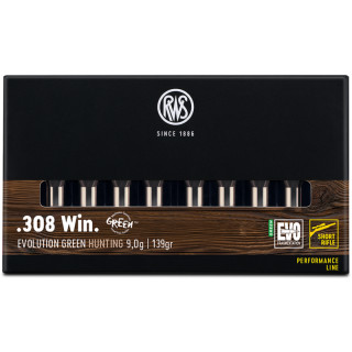 .308 Win RWS Evo Green Short Rifle - 139grs.- 20Stk