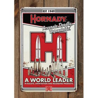 Hornady Blechschild A World Leader